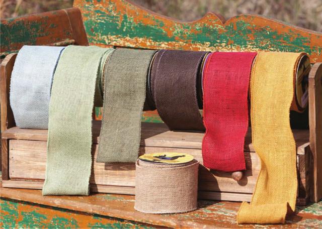 Burlap Ribbon - rustic - holiday decorations - atlanta - by Iron ...