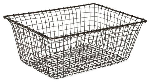 Cabo Rectangular Basket, Medium traditional-baskets