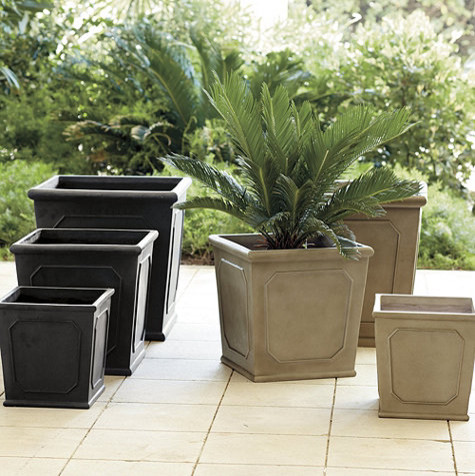 Chapelle Square Planter Traditional Indoor Pots And