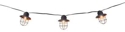 Smith & Hawken Metal Cage String Lights - Modern - Outdoor Lighting - by Target