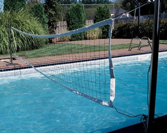 S.R. Smith VOLY Swim N' Spike VollEyeball Game, Complete with Anchors - -Water volleyball and needle are included.