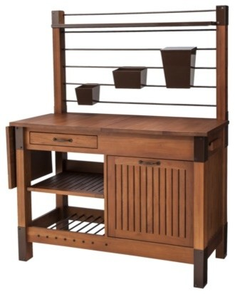 Smith Amp Hawken Premium Quality Potting Bench Traditional
