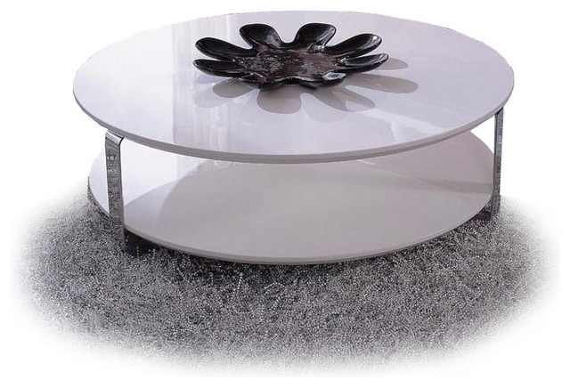 modern white lacquer round coffee table ono modern coffee tables other metro by furnillion
