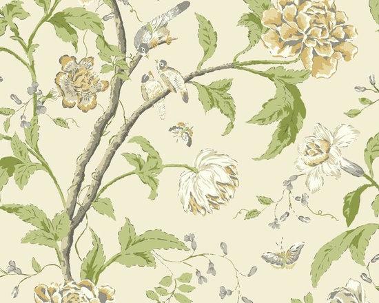 Vintage Teahouse Floral Vibe Wallpaper -