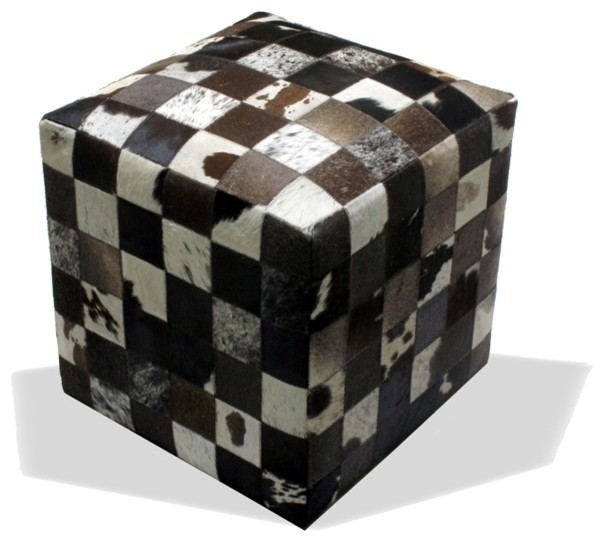 Cowhide Ottoman rustic-footstools-and-ottomans