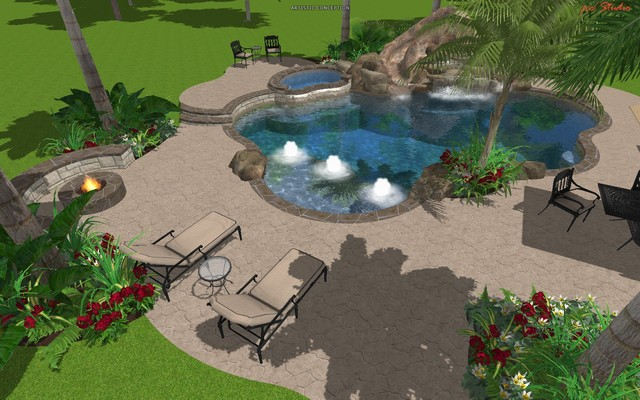 Cypress Custom Pools --- Free Form Design W/ Resort Feel ...