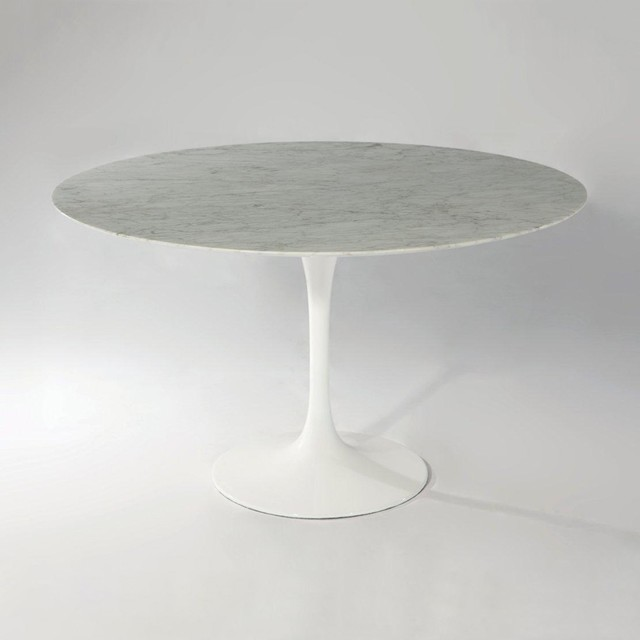 Round Marble Top Dining Table DTA BEAU CARR ROUND Modern Dining