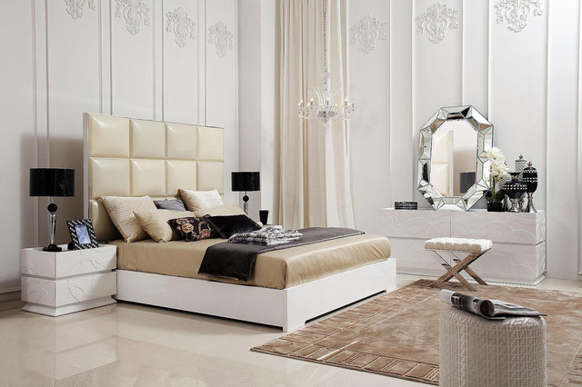 Unique Transitional And Modern Luxury Bedroom Set