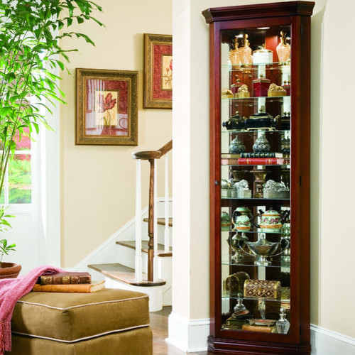 Keepsakes Corner Curio Cabinet - Modern - China Cabinets And Hutches
