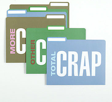 Total Crap File Folders modern desk accessories