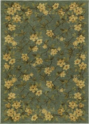 International First Lady Magnolia Memories Empress Light Blue Rug modern-rugs