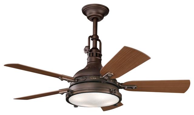 Kichler 4-Light Ceiling Fan - Tannery Bronze traditional-ceiling-fans