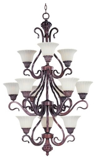 Maxim Lighting Maxim Via Roma Chandelier - 30W in. Greek Bronze contemporary chandeliers