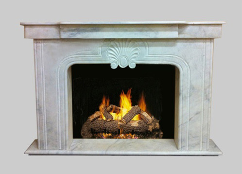 White Marble Decorative Hand Carved Fireplace Mantel Surround modern-fireplace-mantels