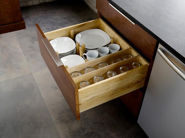 Drawer Plate Storage - Traditional - Kitchen - minneapolis ...