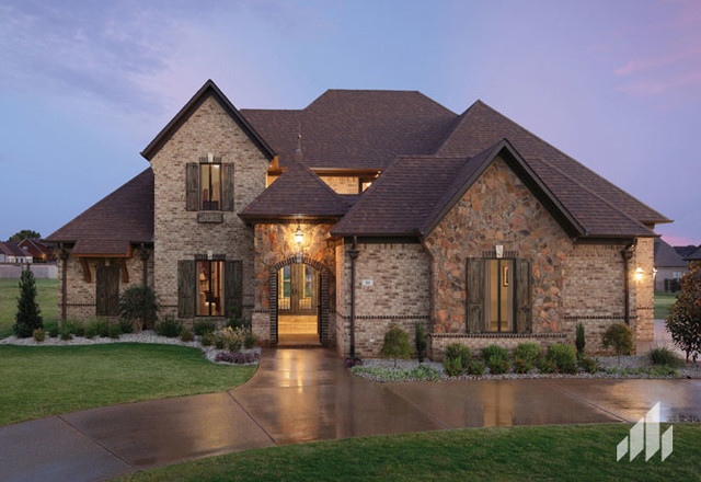 Brick Stone Combination Home Ideas