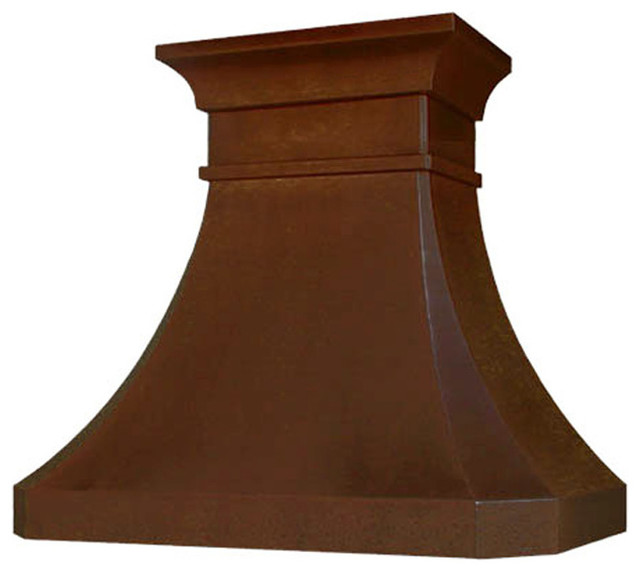 """Hammered Copper Stove Hood """"Greensboro"""", Antique, 30"""", Wall Mount - Traditional - Range Hoods ..."""