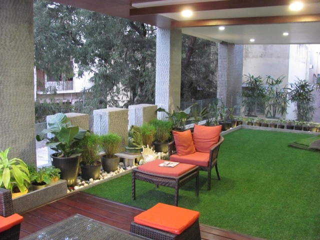 agarwals residence contemporary-patio