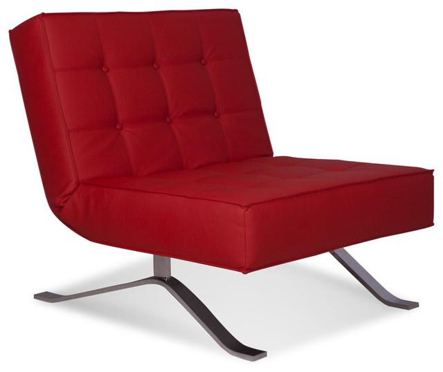 Wave One Red Lounge Chair - modern - chairs