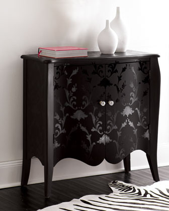 """""""Midnight Damask"""" Chest traditional-accent-chests-and-cabinets"""