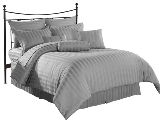 royal calico down alternative comforter set grey california king traditional comforters. Black Bedroom Furniture Sets. Home Design Ideas
