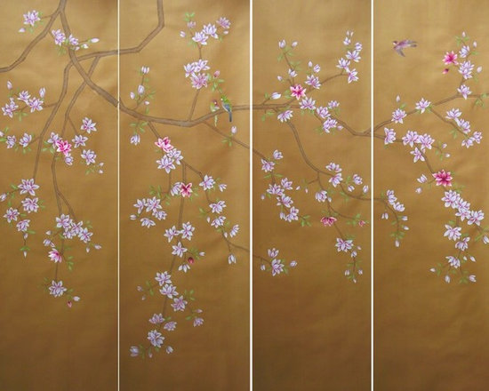 various projects and designs - new design showing flowing magnolia flowers