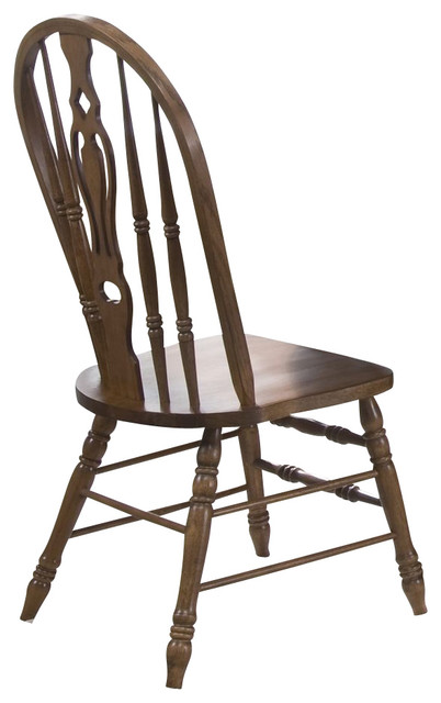 Liberty Furniture Old World Traditional Windsor Side Chair in Oak (Set of 2) traditional-dining-chairs