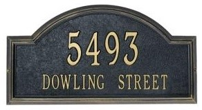 Providence Classic Arch Address Plaque by Whitehall traditional-house-numbers