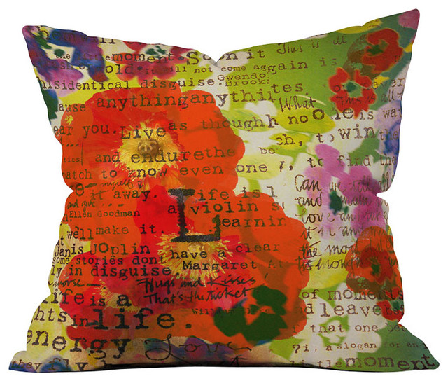 DENY Designs Irena Orlov Poppy Poetry 3 Throw Pillow eclectic-decorative-pillows