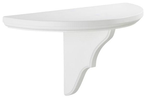 Martha Stewart Living™ Solutions Half-Circle Collector's Shelf - Traditional - Wall Shelves - by ...