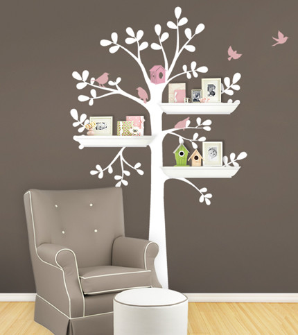 Shelving Tree Decal contemporary 