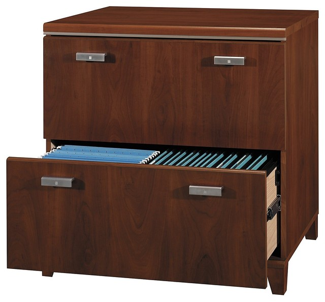 Bush Furniture Tuxedo Lateral File X-45412CW - Contemporary - Filing Cabinets - by Arcadian Home ...
