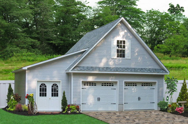 24x24 Two Car Garage with Lean-To in Millersville, MD traditional
