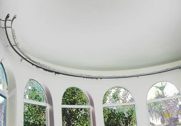 Sunroom Curved Windows-Bendable Curtain Rod - Transitional - Curtain ...