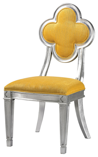 Petal back dining chair yellow contemporary dining for Modern yellow dining chairs