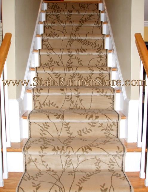 Contemporary Straight Stair Runner Installation