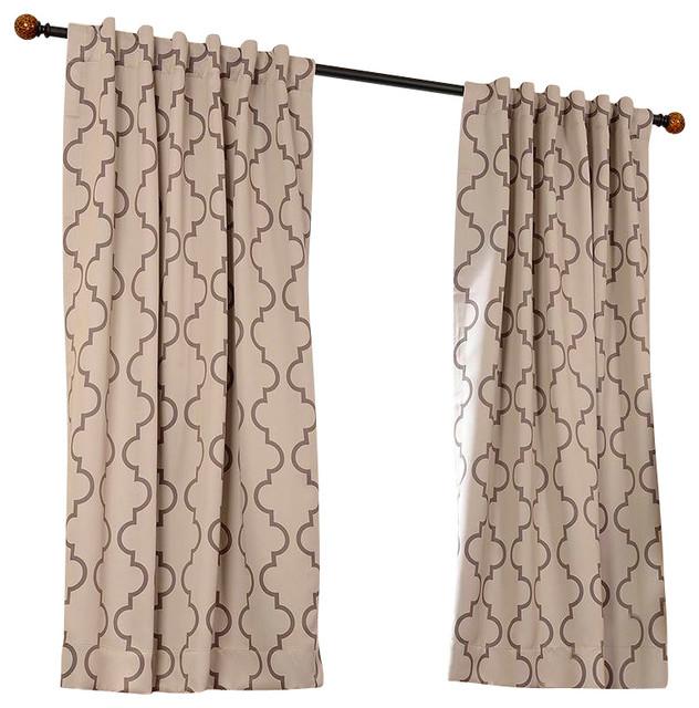 "Seville Tan Blackout Curtain, Brown, 50"" X 63"