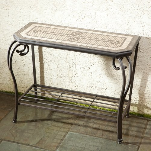 Alfresco Home Compass 39 in. Hex Console Table contemporary-outdoor-dining-tables
