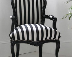 Hattie Black and White Striped Chair modern-armchairs-and-accent-chairs