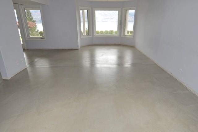 Concrete Floor Overlay modern-basement