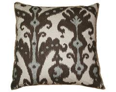 Lacefield Designs Marrakesh Cobblestone Eyelash Fringe Pillow eclectic-decorative-pillows