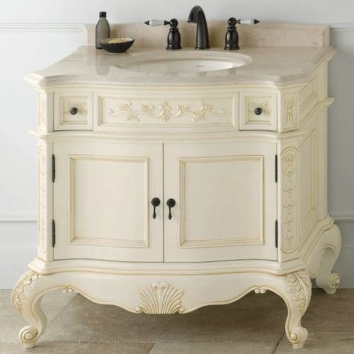 Ronbow Bordeaux Antique Style Vanity Cabinet Antique White Victorian Bathroom Vanities And