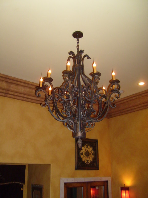 Hand Forged Iron Chandelier  chandeliers