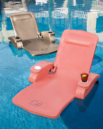 Monogrammed Pool Recliner traditional outdoor chaise lounges