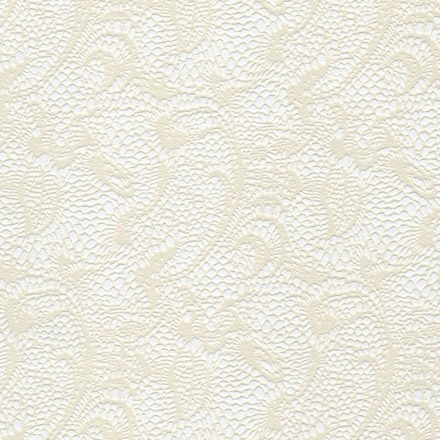 Astek shadows on the wall cream floral swirls on silver for Cream wallpaper for walls