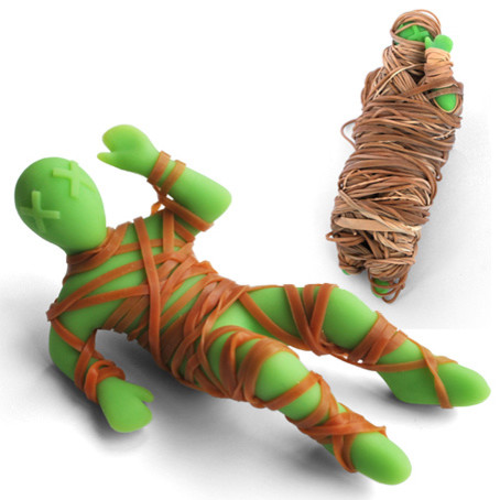 Mummy Mike Rubber Band Holder eclectic-desk-accessories