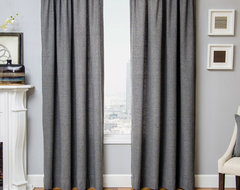 Blindsgalore Signature Drapery Panel: Gentleman's Houndstooth traditional-curtains