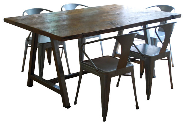 Rustic Modern Architect Table Contemporary Dining