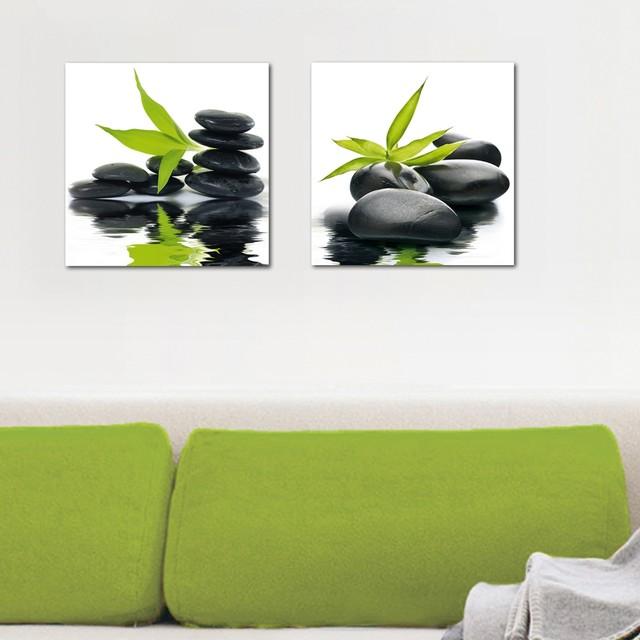 Modern Glass Wall Decor : Platin art s deco glass wall decor zen impression