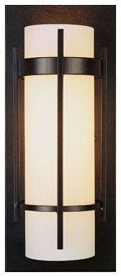 Arts and Crafts - Mission Hubbardton Forge ADA Compliant Mahogany Wall Sconce contemporary-wall-lighting